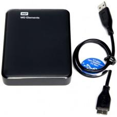 """Внешний жесткий диск Western Digital Elements HDD EXT 2000Gb, 5400 rpm, USB 3.0, 2.5"""" BLACK (WDBU6Y0020BBK-EESN)"""