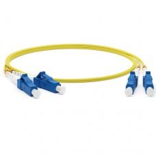 Hyperline FC-9-LC-LC-UPC-2M Патч-корд волоконно-оптический (шнур) SM 9/125 (OS2), LC/UPC-LC/UPC, dup